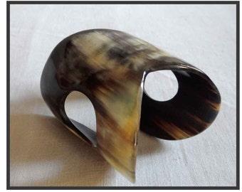 Horn CUFF BRACELET / Cuff Bangle.
