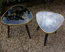 Small coffee table of 1960 / Table tripod vintage / old formica Table