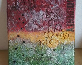 JAH DESTINATION mixed media art