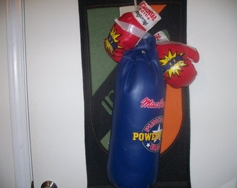 Macgregor power house punching bag with boom gloves