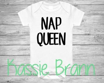 Nap Queen Funny Baby Onesie