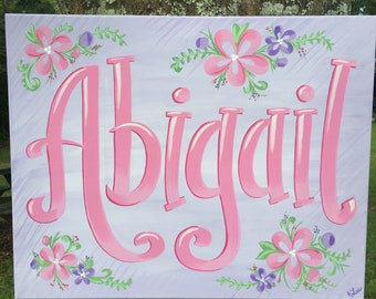 Personalized Name Canvas, Handpainted Name Canvas, Custom Name Canvas, Children's Name Canvas, Personalized Name Canvas