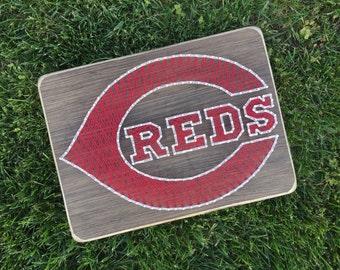 Cincinnati Reds Baseball String Art