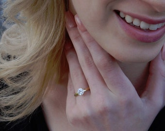 Round Cut 1.75 Ct Solitaire Engagement Wedding Ring Solid 14K Yellow Gold