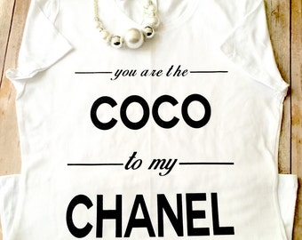 FREE SHIPPING!!! Coco to My Chanel Shirt; Plus Size Fashion; Fashionista