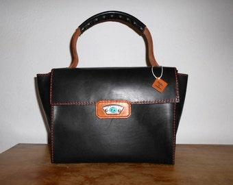 Leather bag, black bag, leather woman purse, hobo bag, spacious bag, leather goods, handmade leather bag
