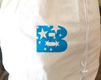 Monogrammed Large Laundry Bag - Initial Design