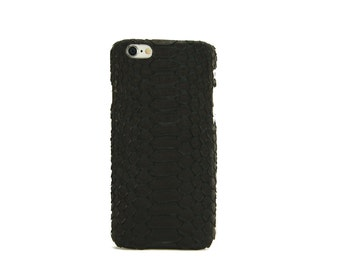 Black python leather iPhone 6/6s phone case