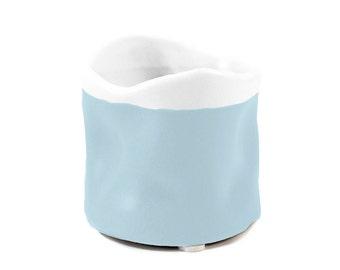 Miniature Pinch Pots with Two-Tone Finish Aqua Blue (4)