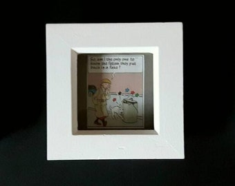 TINTIN Picture Frames x 3. Set of three Frames with Vintage Tintin comic panels inside *Great Gifts for all good Tintinologists!