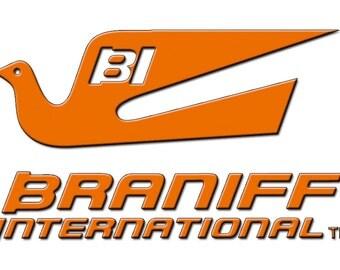 Braniff International Airlines Logo Fridge Magnet (LM14028)