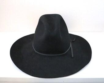 Vintage Black Stetson Wool Cowboy Hat