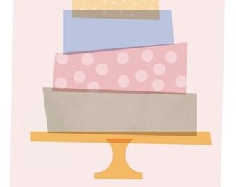 Instant Download, Birthday Cake birthday invitation, digital invitation, party invite template, 4x6 or 5x7 printable card