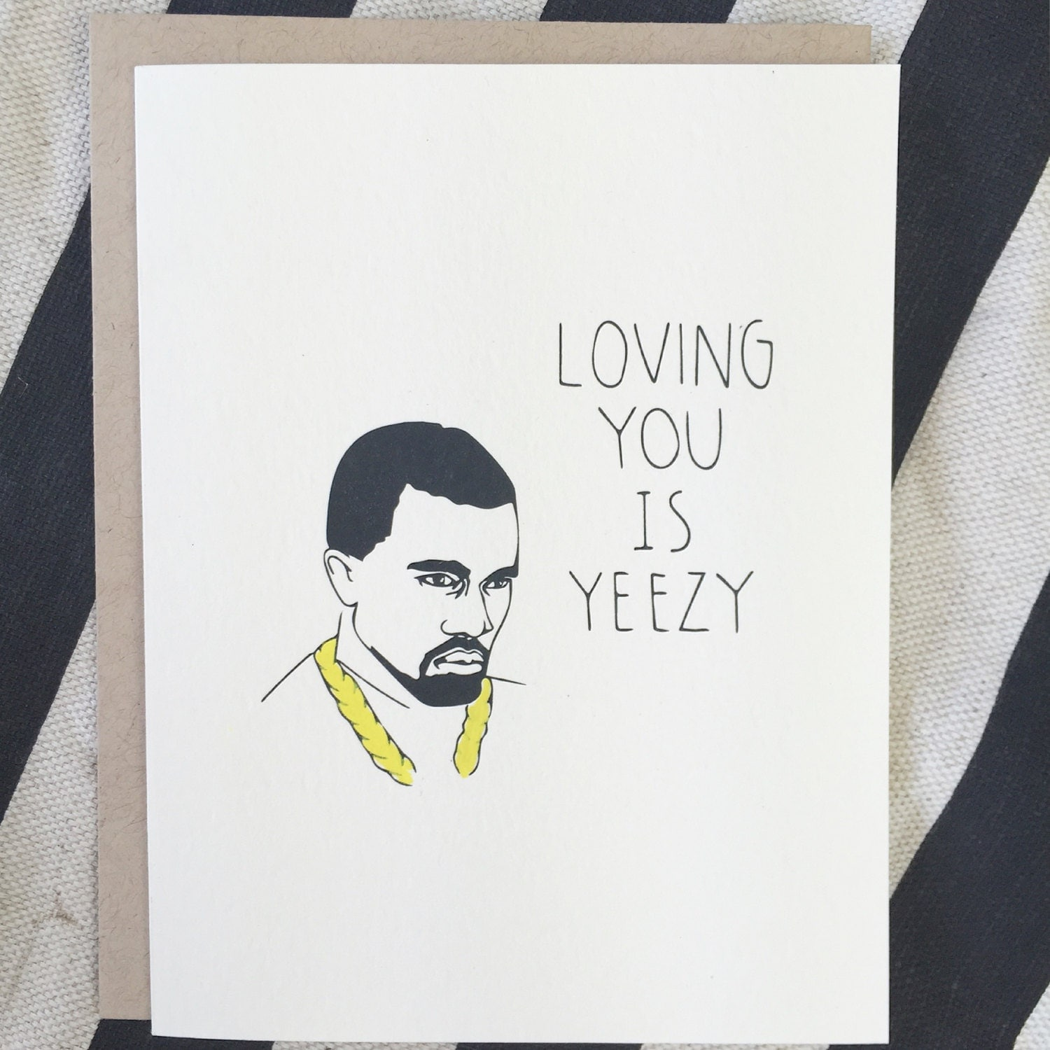 Funny KANYE Love Card Birthday Card for Boyfriend Friendship