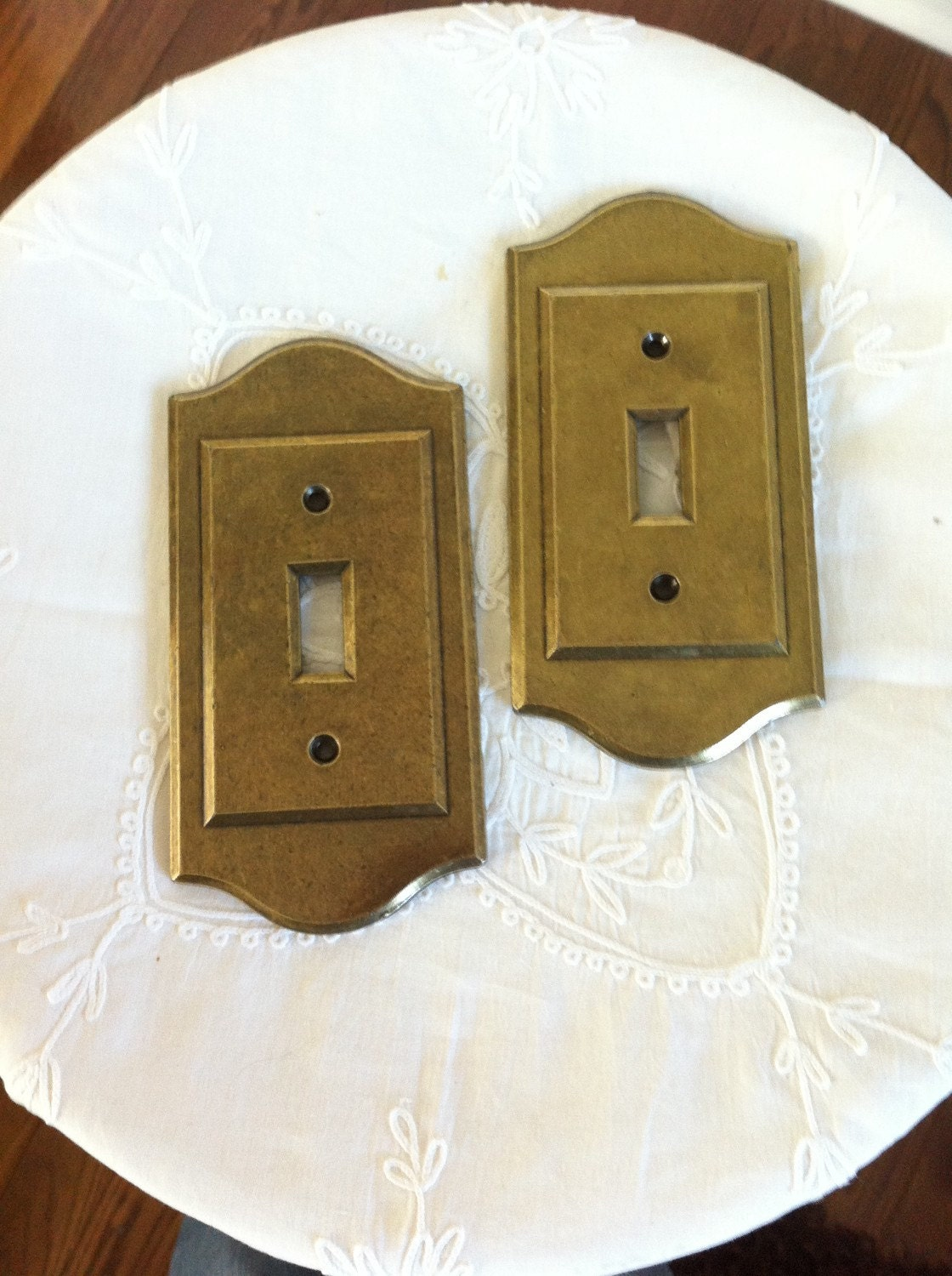 Vintage Switch Plate Brass Single Switch Cover Electrical
