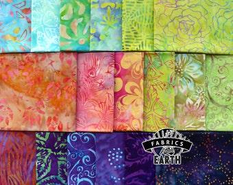 Island Dreams Batik 18 Fat Quarter Bundle - Quilting Fabric