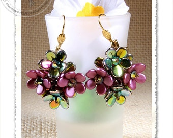 Calvinia earrings pendant PDF pattern