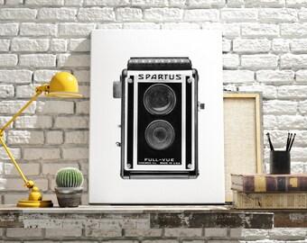 MAN CAVE DECOR - Canvas art - Black and white art - Machine age - Industrial art - Living room decor - Retro decor - Wall art prints