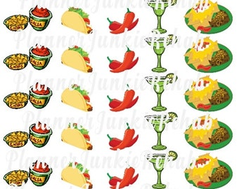 45 Mexican Food Stickers