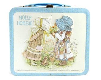Vintage 1981 Holly Hobbie Metal Lunch Box