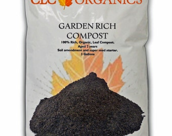 Garden Rich Leaf Compost - Potting Soil Amendment - 12 Qt ; 3 Galllon