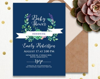 Rustic baby shower, Printable baby shower invitation, baby shower cards, baby shower invitations, baby shower invites, baby shower invite