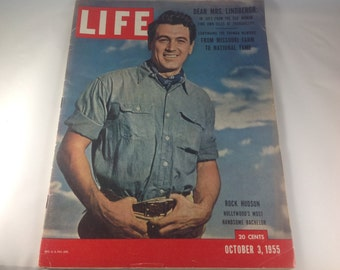 Life Magazine, Rock Hudson, October 3, 1955