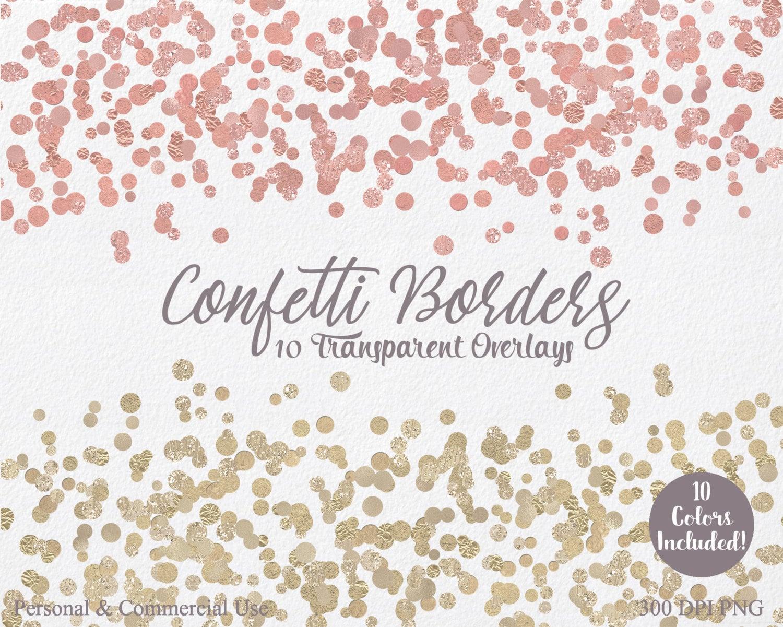 Gold Foil Confetti Clipart Commercial Use Clip Art 10