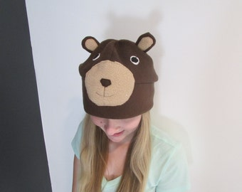 Custom Fleece Bear Hat