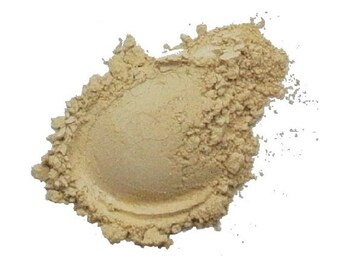 Mineral Powder Foundation, 'GOLDEN MEDIUM', Vegan, Cruelty-free, Acne safe, 7g Sifter Jar
