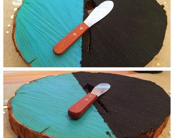Rustic Serving Platter - Cyan Blue