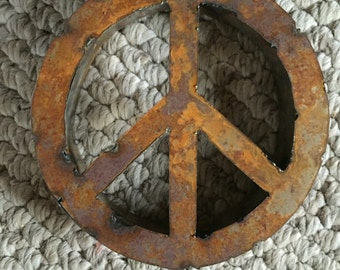 Metal industrial peace sign