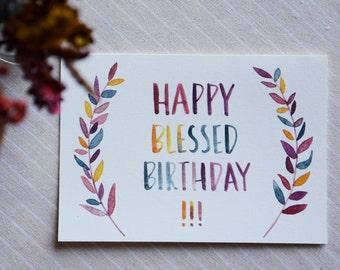 HAPPY BIRTHDAY | Handdrawn Watercolour Cards