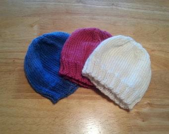 Newborn handknit hat