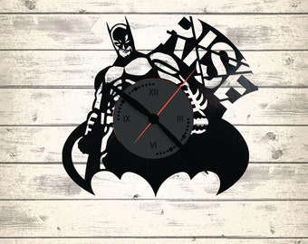 Vinyl Clock/ Batman/ An interesting element of the decor/ For music and art lovers