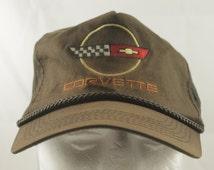 "True Vintage Worn in ""Corvette"" Chevy Bowtie Cap Retro 1980's Hat Vintage Snapback Cap"