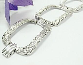 Large silver chain bracelet,Sterling silver bracelet,silver handmade bracelet,link bracelet,silver bracelet,vintage,jewelry, bracelets