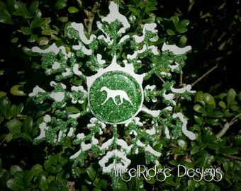 Whippet Snowflake Ornament