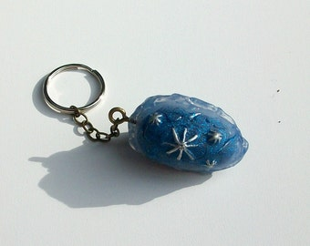 Winter Storm Dragon egg keychain