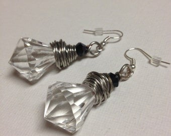 Wire Wrapped Chandler Crystal Earrings