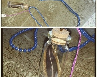 Feather In A Bottle Necklace