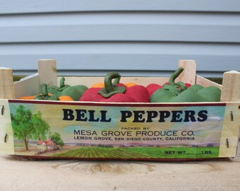 Bell Peppers in Crate