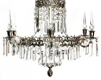 Chrome bathroom chandelier