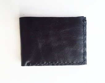 Handmade Black Leather Wallet