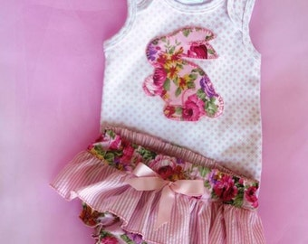 Baby Girl Gift Set, Baby Girl Shabby Chic Set, Baby Girl Diaper Cover Set, Sizes 0 to 9 months Ready to Ship