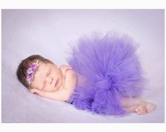 Easy to use extra full newborn tutu (headband NOT included),baby tutu,half tutu,tutu skirt,newborn photo prop,uk seller,tulle skirt