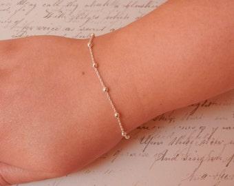 dainty silver bracelet gold bracelet satellite bracelet delicate bracelet satellite jewelry silver gold satellite bracelet chain bracelet