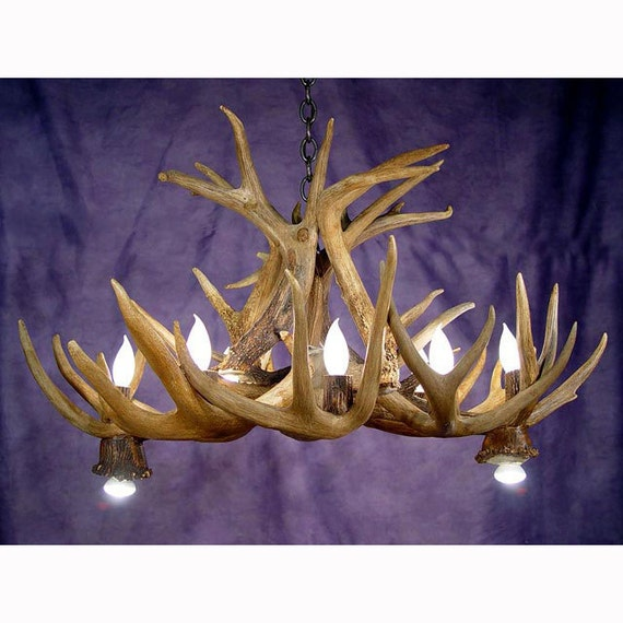Real Antler Whitetail Deer Pool Table Chandelier Light