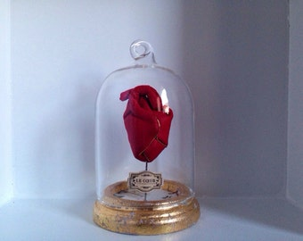 Vintage glass dome heart / limited edition