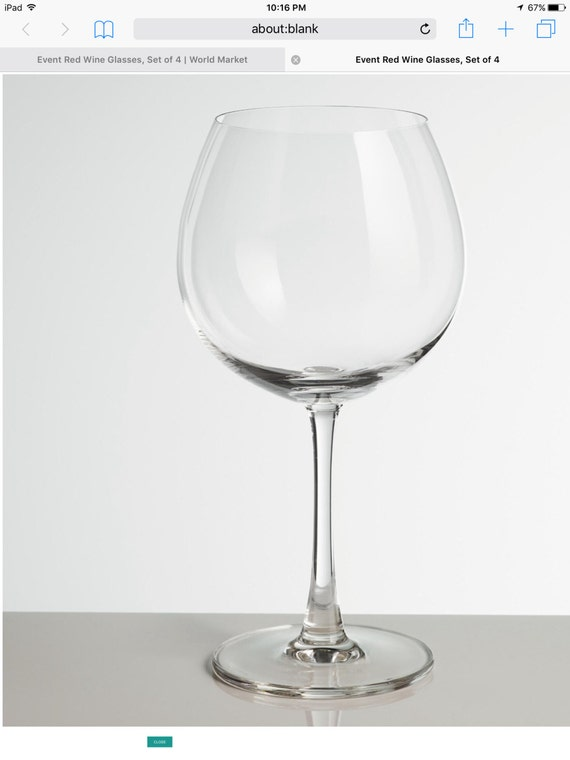 2 specialty thin stem wine glasses with free custom design for Thin stem wine glasses